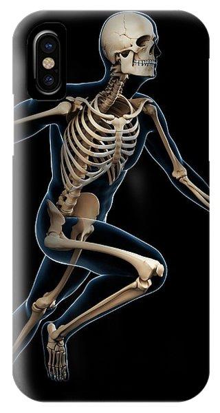 Skeletal System Of Runner Phone Case by Sebastian Kaulitzki