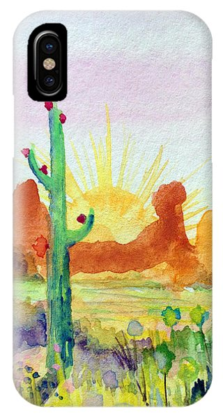 Southwestern Landscape Phone Case by Patricia Lazaro