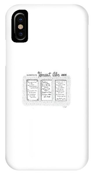 Introducing Honest Abe Cards IPhone Case