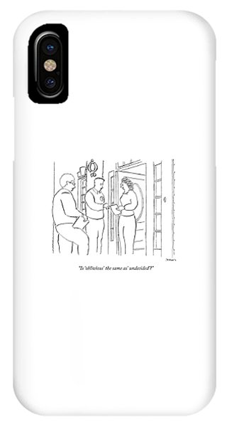 Election iPhone Case - Is 'oblivious' The Same As' Undecided'? by Michael Shaw