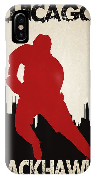 Chicago iPhone Case - Chicago Blackhawks by Joe Hamilton