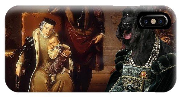 Scottish Terrier Art Canvas Print IPhone Case