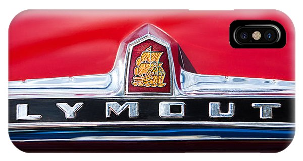 1949 Plymouth P-18 Special Deluxe Convertible Emblem IPhone Case