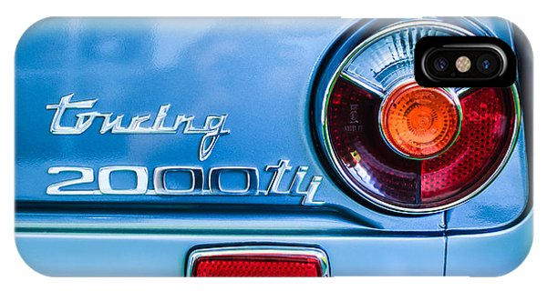 1972 iPhone Case - 1972 Bmw 2000 Tii Touring Taillight Emblem -0182c by Jill Reger