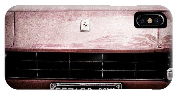 1972 iPhone Case - 1972 Ferrari 365 Gtb-4a Grille Emblem by Jill Reger