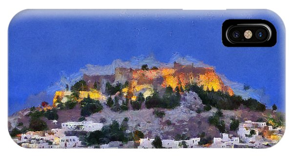 Acropolis And Village Of Lindos IPhone Case