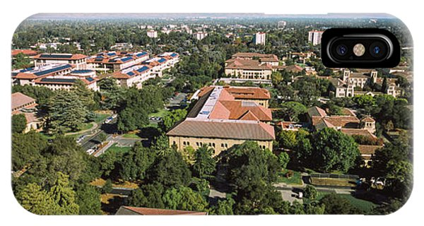 Stanford iPhone Case - Aerial View Of Stanford University by Panoramic Images