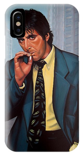 Portraits iPhone X Case - Al Pacino 2 by Paul Meijering