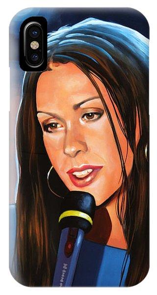 Popstar iPhone Case - Alanis Morissette  by Paul Meijering