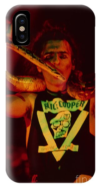 Alice Cooper iPhone Case - Alice Cooper At The Concord Pavillion by Daniel Larsen