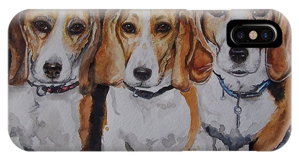 3 Amigo Beagles IPhone Case