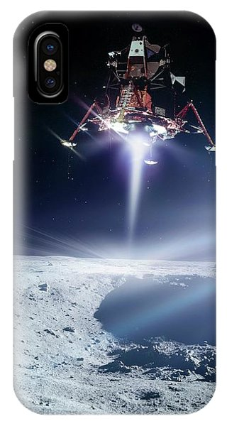 Spaceflight iPhone Case - Apollo 11 Moon Landing by Nasa/detlev Van Ravenswaay