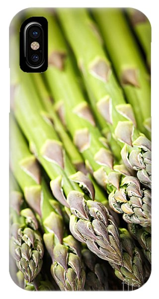 Organic Foods iPhone Case - Asparagus by Elena Elisseeva