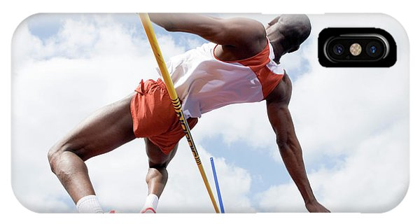 Athlete Performing A High Jump Phone Case by Gustoimages/science Photo Library