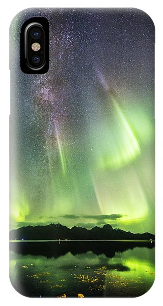 Auroras And Milky Way IPhone Case