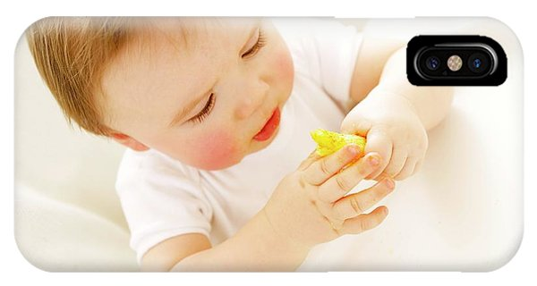 Baby Boy Eating A Crisp Phone Case by Ruth Jenkinson/science Photo Library