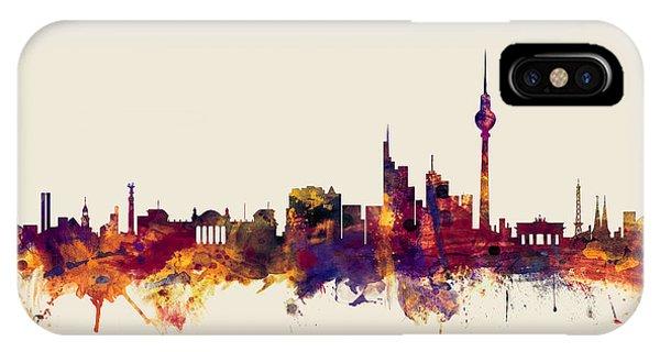 Berlin iPhone Case - Berlin Germany Skyline by Michael Tompsett