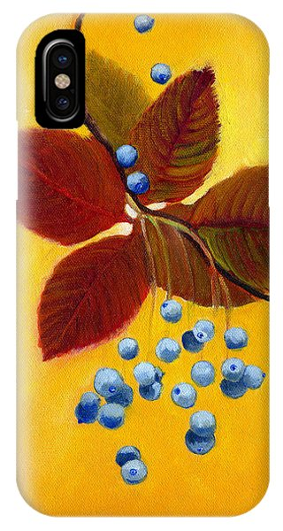 Blue On Yellow IPhone Case