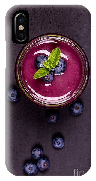 Smoothie iPhone Case - Blueberry Smoothie   by Jane Rix