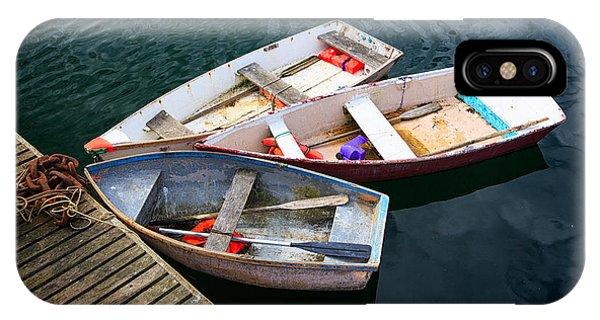 Nubble Light iPhone X Case - 3 Boats by Emmanuel Panagiotakis