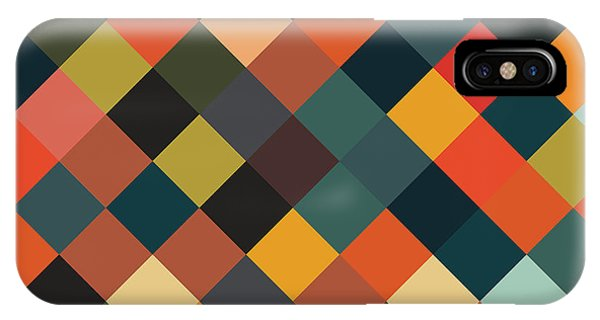 Background iPhone Case - Bold Geometric Print by Mike Taylor