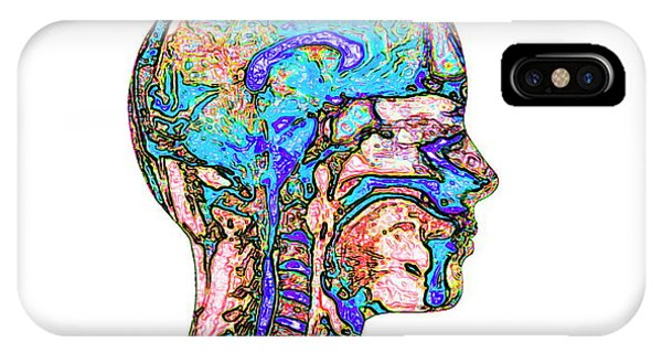 Spines iPhone Case - Brain And Spinal Cord by Mehau Kulyk