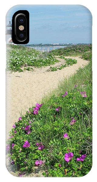 iPhone Case - Brant Lighthouse, Nantucket Harbor by Lisa S. Engelbrecht