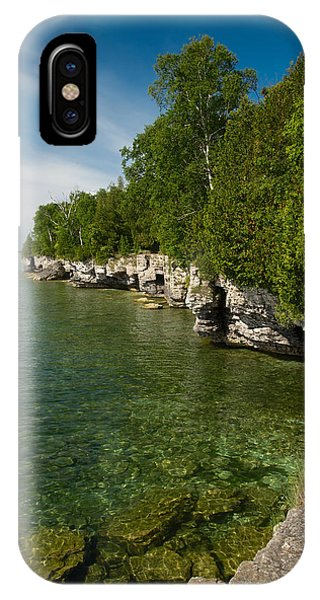 Cave Point County Park IPhone Case