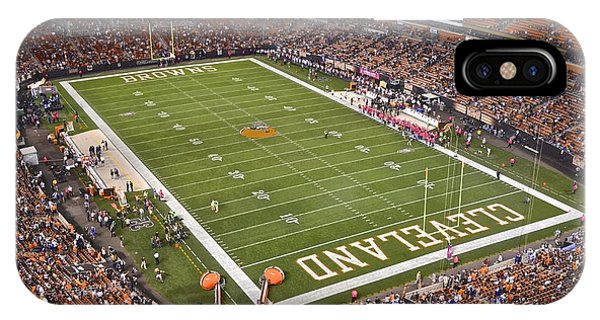 Running Back iPhone Case - Cleveland Browns Stadium by Frozen in Time Fine Art Photography