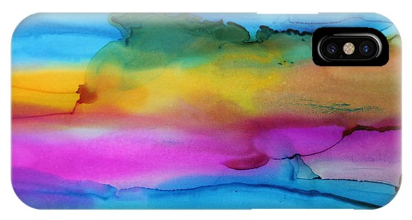 3 Colors Horizontal Abstract Phone Case by Kim Thompson