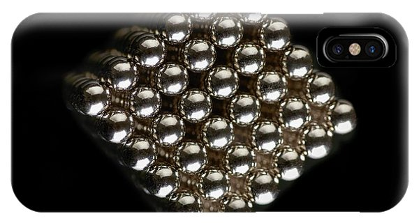 Controversial iPhone Case - Cube Of Neodymium Magnets by Science Photo Library