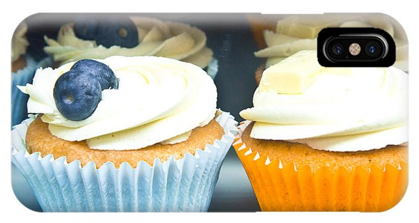 Blue Berry iPhone Case - Cupcakes by Tom Gowanlock