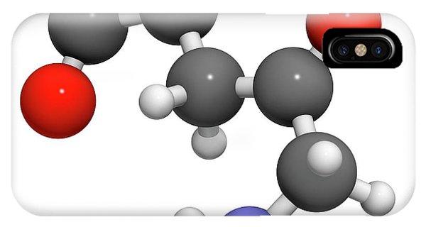 Delta iPhone Case - D-aminolevulinic Acid Ala Drug Molecule by Molekuul