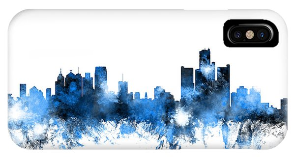 Detroit Michigan Skyline IPhone Case