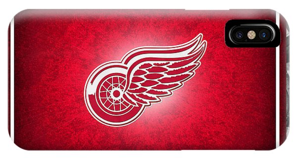 Puck iPhone Case - Detroit Red Wings by Joe Hamilton