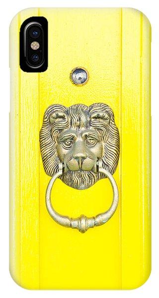 Yellow iPhone Case - Door Knocker by Tom Gowanlock