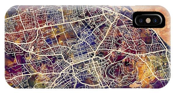 Scotland iPhone Case - Edinburgh Street Map by Michael Tompsett