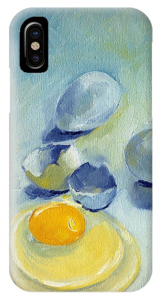 3 Eggs On Blue IPhone Case