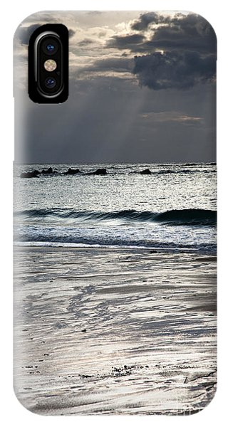 Orange Sunset iPhone Case - Evening At The Sea by Nailia Schwarz