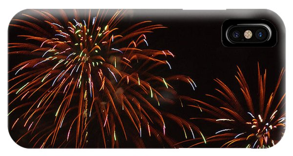 Fireworks iPhone Case - Fireworks At The Albuquerque Hot Air by William Sutton