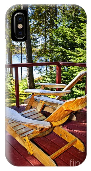 Porches iPhone Case - Forest Cottage Deck And Chairs by Elena Elisseeva
