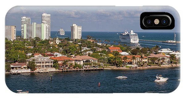 Jet Ski iPhone X Case - Fort Lauderdale, Port Everglades by Lisa S. Engelbrecht