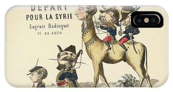 French Caricature IPhone Case