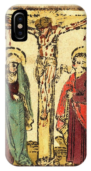 Lavender iPhone Case - German 15th Century, Christ On The Cross by Litz Collection