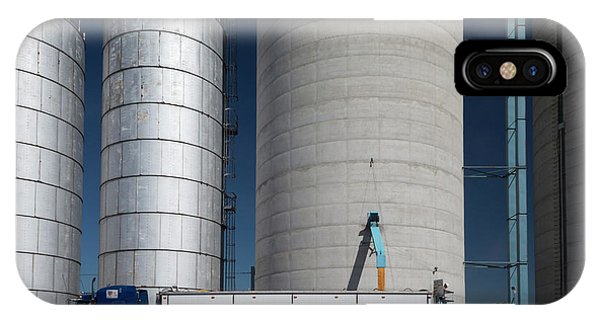 Silo iPhone Case - Grain Truck Being Filled At A Silo by Jim West