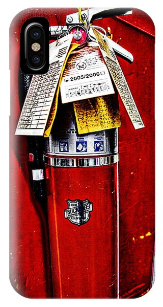 Grungy Fire Extinguisher IPhone Case