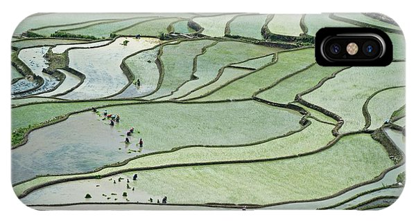 Hani Rice Terraces Near Yuanyang Phone Case by Tony Camacho