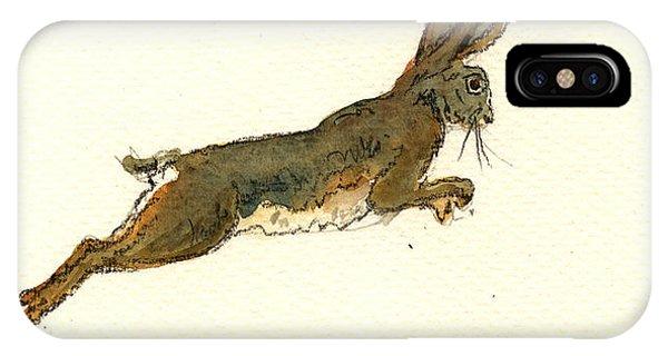 Rabbit iPhone Case - Hare by Juan  Bosco