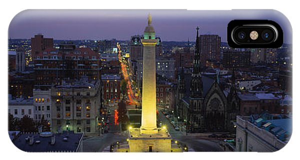 Washington Monument iPhone Case - High Angle View Of A Monument by Panoramic Images