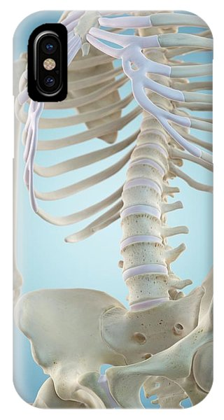 Human Skeletal Structure Phone Case by Sciepro